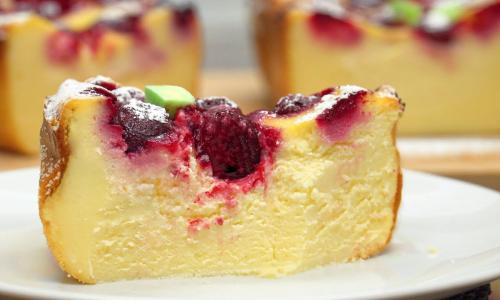 Идеальная творожная запеканка с фруктами